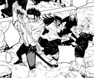Atsuya, Utahime et Momo sauvant Kasumi CH134