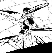 Kuchisake-Onna's scissors attack Toji.png