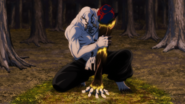 Hanami converting plant life into cursed energy (Anime)