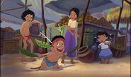 Mowgli and Shanti are both watching Ranjan dance