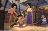 Mowgli and Shanti see Ranjan danceing