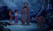 Mowgli and his friends are all together