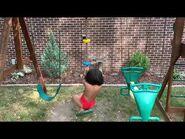 Backyard fun with Mowgli!