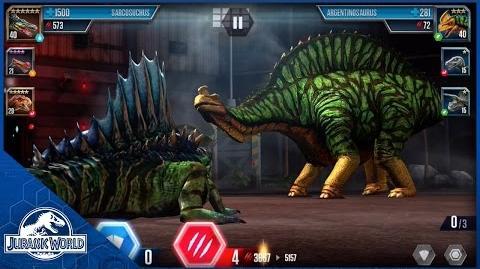 Battle Level 40 Sarcosuchus vs Level 35 Argentinosaurus