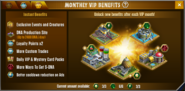 Monthly VIP Benefits