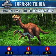 Therizinosaurus Trivia