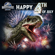 Indominus rex 4th of July