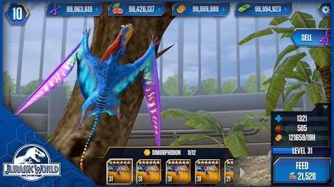 Dimorphodon Feeding Level 31 - Jurassic World The Game