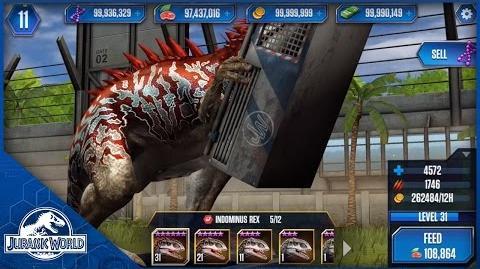 Indominus Rex Feeding Level 31 - Jurassic World The Game