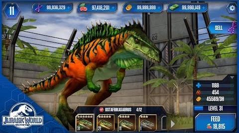 Ostafrikasaurus Evolution Sequence + Feeding - Jurassic World The Game