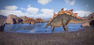 JWE2 stegosaurs drinking
