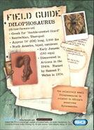 2001 Jurassic Park III 3-D 60 Dilophosaurus back