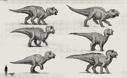 JW Camp Cretaceous Bumpy Baby Maisaura Extra Sketches