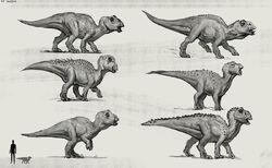JW Camp Cretaceous Bumpy Baby Maisaura Extra Sketches.jpg