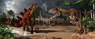 Jurassic Terrestrial Allosaurus Stegosaurus Csotonyi2
