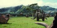 Parasaurolophus stegosaurus triceratops apatosaurus TV spot screenshot