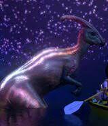 Parasaurolophus bioluminiscente