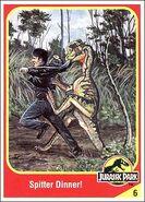 Dilophosaurus collector card