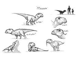 JW Camp Cretaceous Bumpy Maiasaura Rough Sketch.jpg