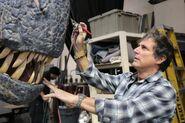 Artist Working on BABR Allosaurus