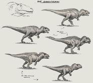JW Camp Cretaceous Bumpy Baby Acrocanthosaurus Sketches