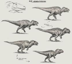 JW Camp Cretaceous Bumpy Baby Acrocanthosaurus Sketches.jpg