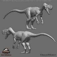 Monolophosaurus Camp Cretaceous Concept Art 2