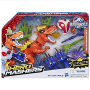 JW Hero Mashers T-Rex with Amargasaurus