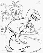 Jurassic park coloring page 1