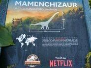 Mamenchisaurus Camp Cretaceous Poland Advertisement