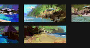 Camp Cretaceous Beach Concept Art