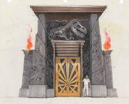 Visitor Center front door concept art
