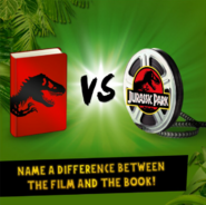Name a difference between the film and the book!