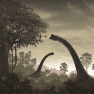 Alan Grant feeds the Brachiosaurus concept