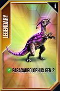 Parasaurolophus GEN 2 Card