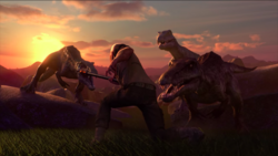 Fending off the Baryonyx trio.png