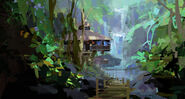Camp Cretaceous Lodge Concept Art 8
