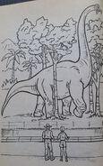 Jurassic Park A Coloring Book 1
