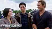 Chris Pratt's Jurassic Journals Daniella Pineda and Justice Smith