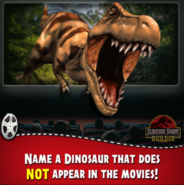 Name a dinosaur that does not appear in the movies