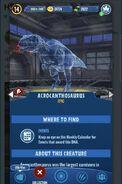 JW- Alive Acrocanthosaurus Hologram