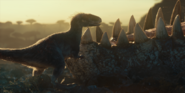 Jurassic World Dominion Moros approaches a jaw