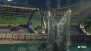 Мозазаврвыпрыгнулзакормом