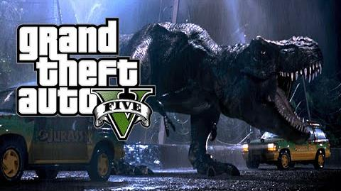 Jurassic Park- GTA 5 - (Trailer Remake)