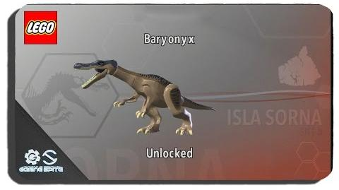 Lego Jurassic World - How to Unlock Baryonyx Dinosaur Character Location