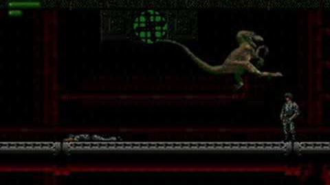 Jurassic Park (Sega MD Sega Genesis) - (Raptor Mission 3 - The Pump House Hard Difficulty)