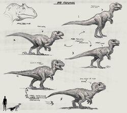 JW Camp Cretaceous Bumpy Baby Allosaurus Sketches.jpg