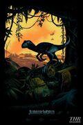 Jurassic world comic con art exclusive a p