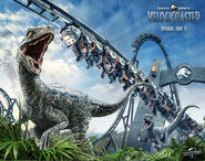 Jurassic-World-VelociCoaster Poster