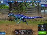 Monolophosaurus running